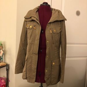 BCBG military style trench